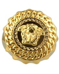 Versace Chained Medusa Ring - Metallic