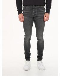 Amiri Slim Jeans In Grey Denim