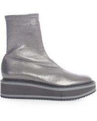 Robert Clergerie Berta 4 Sock Boots - Metallic
