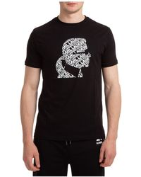 Karl Lagerfeld Short Sleeve T-shirt Crew Neckline Jumper - Black
