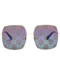 Gucci Oversized Square Framed Sunglasses - Multicolour