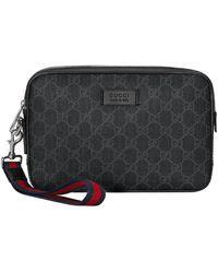 Gucci GG Supreme Toiletry Bag - Black