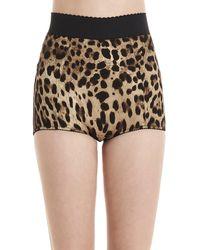 Dolce & Gabbana Leopard Print Shaping Briefs - Brown