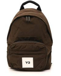 Y-3 Logo Patch Backpack - Green