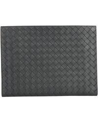 Bottega Veneta Intrecciato Document Case Clutch Bag - Black