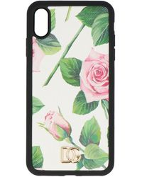 Dolce & Gabbana Floral Print Iphone X Case - Green