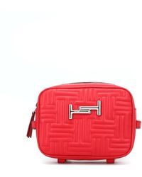 Tod's Double T Quilted Crossbody Bag - Red