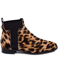 Tod's Calf-hair Ankle Boots - Brown