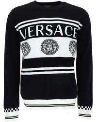 Versace Medusa Logo Knit Jumper - Black