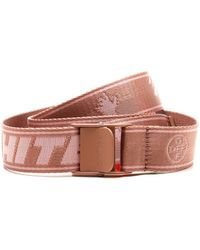 Off-White c/o Virgil Abloh New Logo Industrial Belt - Pink