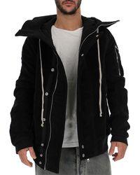 Rick Owens Drkshdw Hooded Loose Fit Jacket - Black