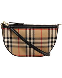Burberry Olympia Vintage Check Shoulder Bag - Multicolor