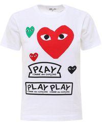 COMME DES GARÇONS PLAY Multi Heart T-shirt - White