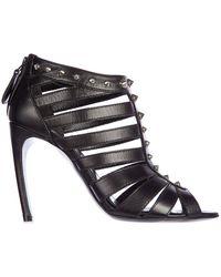Alexander McQueen Studded Heeled Sandals - Black