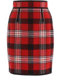 DSquared² Tartan Mini Skirt - Red