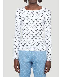 Marine Serre Crescent Moon-print Jersey Top - White
