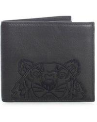 KENZO Kampus Tiger Bifold Wallet - Black