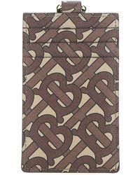 Burberry Monogram Neck Strap Cardholder - Brown