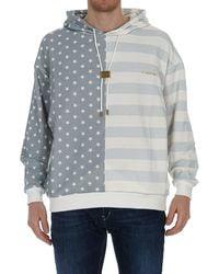 Buscemi Stars And Stripes Hooded Sweatshirt - Grey