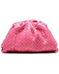 Bottega Veneta Woven Clutch Bag - Pink