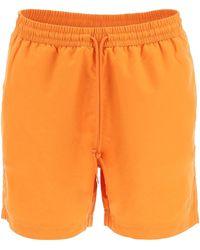 Carhartt WIP Logo Embroidered Swim Trunks - Orange