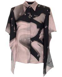 Off-White c/o Virgil Abloh Liquid Melt Waves Short-sleeve Shirt - Black