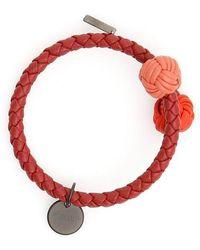 Bottega Veneta - Woven Logo Charm Bracelet - Lyst