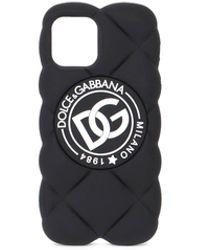 Dolce & Gabbana Logo Patch Iphone 12 Case - Black