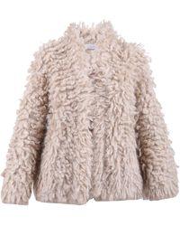 Brunello Cucinelli Faux Fur Coat - Natural