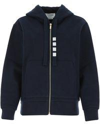Thom Browne 4-bar Hooded Jacket - Blue