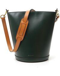 Marni Structured Bucket Bag - Green