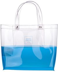 Opening Ceremony Logo Printed Two-tone Tote Bag - Blue