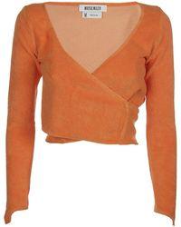 Maisie Wilen Dramady Cropped Top - Orange