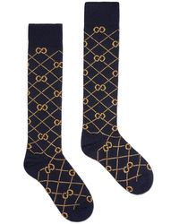 Gucci GG Logo Socks - Blue