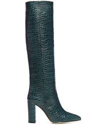 Paris Texas Embossed Knee-high Boots - Green