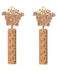 Versace Medusa Drop Earrings - Metallic