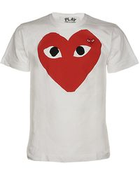 COMME DES GARÇONS PLAY Heart Logo Print T-shirt - White