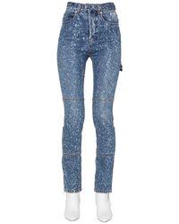 MSGM - Paint Splatter Skinny Jeans - Lyst