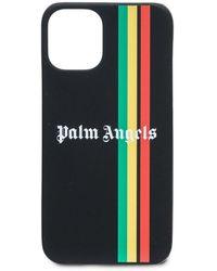 Palm Angels Exodus Logo Print Iphone 12 Mini Case - Black