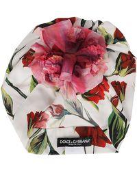 Dolce & Gabbana Floral Appliqué Turban - Multicolour