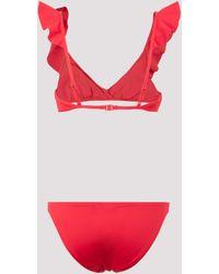 Zimmermann Cassia Waterfall Frill Two-piece Bikini - Red