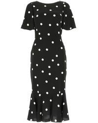 Dolce & Gabbana Polka-dot Print Dress - Black
