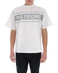 we11done Logo Printed T-shirt - White