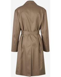 Balenciaga Double Breasted Trench Coat - Natural