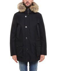 Woolrich Fur Trim Down Jacket - Blue