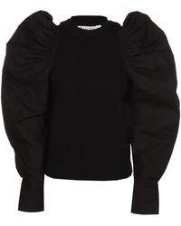 JW Anderson Puff Sleeve Top - Black