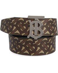 Burberry Reversible Monogram Belt - Brown