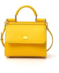 Dolce & Gabbana Sicily 58 Top Handle Bag - Yellow