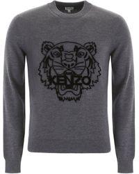 KENZO Tiger Wool Jumper - Grey