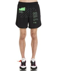 Off-White c/o Virgil Abloh Printed Shorts - Black